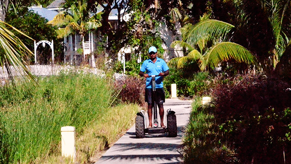 Jump on a Segway and discover the Domaine de Bel Ombre