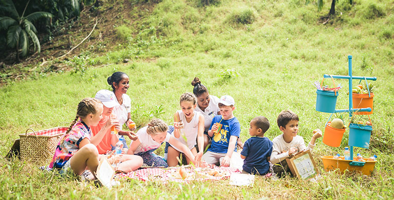 Picnic for kids at Frederica Nature Reserve