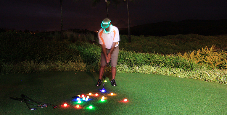 Night golf at Heritage Resorts