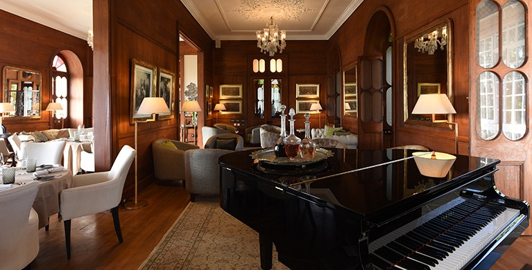Romantic piano bar lounge