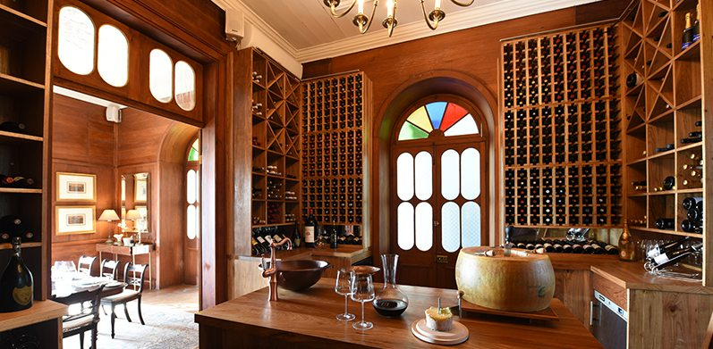 Exceptional wine cellar at Heritage Le Chateau