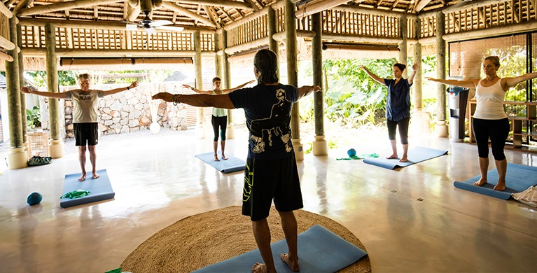 Yoga and Tai Chi sessions at the Wellness Pavillon of Heritage Le Telfair Golf and Wellness Resort