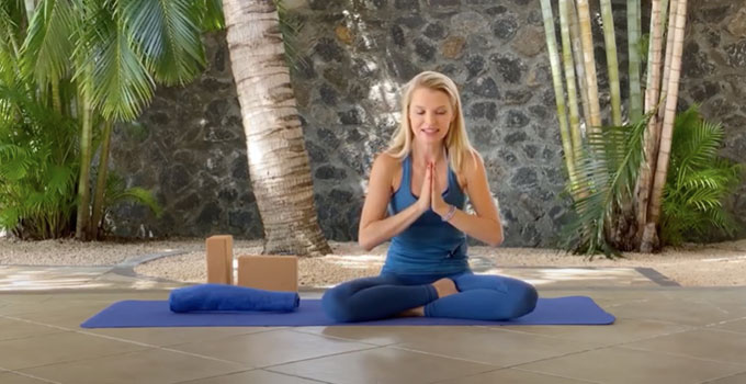 Yoga strech to release anxiety