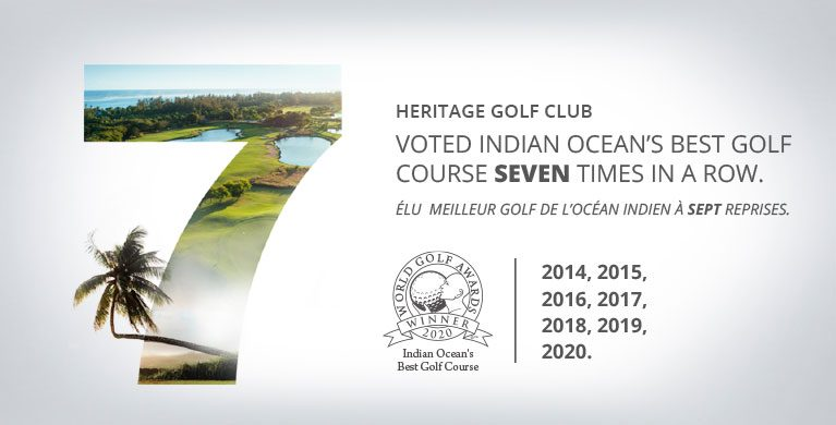 The Heritage Golf Club awarded the title of '' Indian Ocean's Best Golf Course for the seventh year