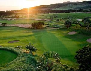 sunset view of the best indian ocean golf course