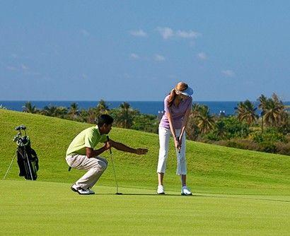 Group golf lesson in Mauritius