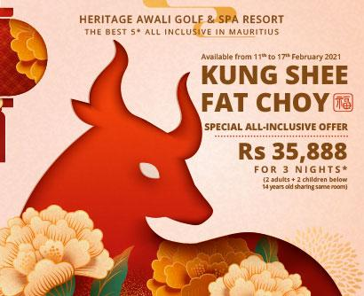 Kung Shee Fat Choy - Offre Spéciale Tout-Inclus | Heritage Awali