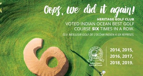 Heritage Golf Club voted Best Golf Course in the Indian Ocean 2019