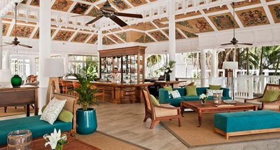 Cavendish lounge at Le Telfair resort