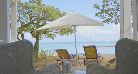 Junior Suite Beach Front Telfair Hotel Mauritius