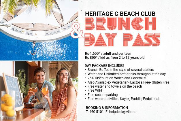 Heritage C Beach Club Brunch and Day Pass Offer
