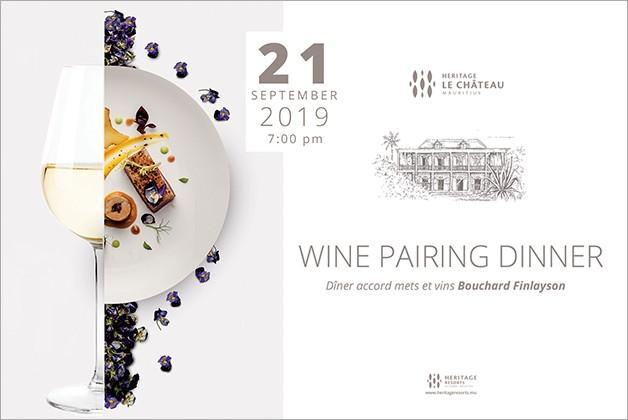 Wine Pairing dinner with Bouchard Finlayson at Heritage Resorts Mauritius