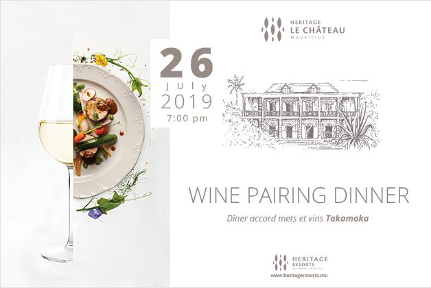 Wine Pairing dinner at Heritage Le Chateau